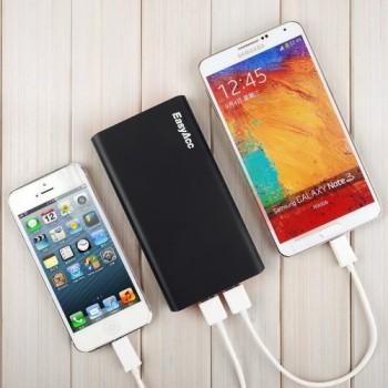 EasyAcc-10000mAh-Ultra-Kompakt-Dual-USB-31A-Ausgang-Portable-Power-Bank-Externer-Akku-Ladegert-fr-Handy-iPhone-Samsung-iPad-5V-Tablets-Smartphone-Schwarz-und-Orange-0-0
