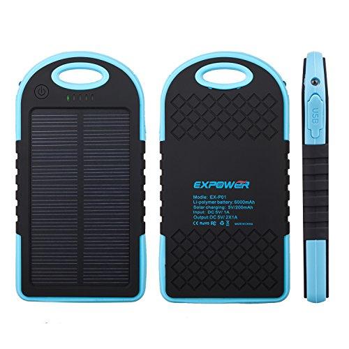 ExpowerR-Wasserdichte-spritzwassergeschtzt-6000mAh-Solar-Panel-Akku-Ladegert-Power-Bank-mit-zurck-Rutsch-Design-fr-Android-Smatphones-iPhoneApple-Adapter-nicht-im-Lieferumfangund-viele-andere-Gerte-bl-0