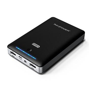 RAVPower-3-Gen-Deluxe-13000mAh-45A-Ausgang-Externer-Akku-Pack-Zusatzakku-Power-Bank-USB-Ladegert-fr-Smartphones-und-Tablets-schwarz-0
