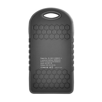 iProtect-5000mAh-Solar-Charger-Power-Bank-Externer-Akku-Pack-und-Ladegert-in-schwarz-fr-Smartphones-Tablets-und-andere-USB-Gerte-inkl-Micro-USB-Kabel-Karabiner-0-1