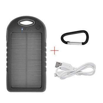 iProtect-5000mAh-Solar-Charger-Power-Bank-Externer-Akku-Pack-und-Ladegert-in-schwarz-fr-Smartphones-Tablets-und-andere-USB-Gerte-inkl-Micro-USB-Kabel-Karabiner-0