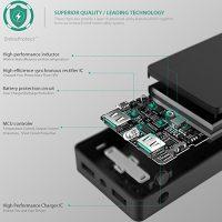 AUKEY-12000mAh-Powerbank-Externer-Akku-Mini-Design-Dual-Port-24A2-Maximale-Output-34A-AiPower-Technologie-und-Taschenlampe-fr-iPhone-Tablets-Smartphones-0-2