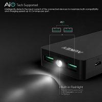 AUKEY-12000mAh-Powerbank-Externer-Akku-Mini-Design-Dual-Port-24A2-Maximale-Output-34A-AiPower-Technologie-und-Taschenlampe-fr-iPhone-Tablets-Smartphones-0-4
