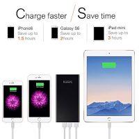 Lumsing-Glory-Series-P1-Plus-15000mAh-PowerPack-Ultra-dnn-Externe-Batterie-Akku-3-USB-Ports-Reiseadapter-fr-iPhone-Samsung-S6-Edge-HTC-Smartphones-Tablets-Schwarz-0-2