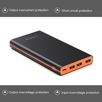 Lumsing-Glory-Series-P1-Plus-15000mAh-PowerPack-Ultra-dnn-Externe-Batterie-Akku-3-USB-Ports-Reiseadapter-fr-iPhone-Samsung-S6-Edge-HTC-Smartphones-Tablets-Schwarz-0-3