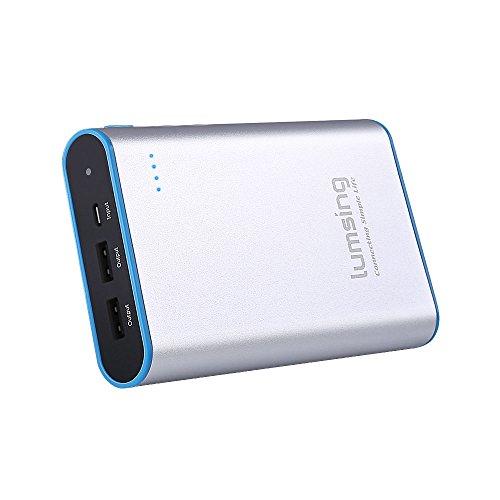 Lumsing-Grand-A1-Plus-13400mAh-Power-Bank-Externes-Akku-Betterie-fr-iPhone-6S66-Plus5SiPad-AirMiniRetinaSamsung-und-andere-Modelle-Silber-0