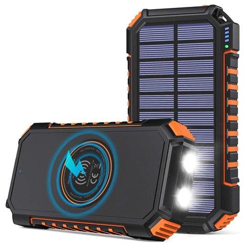 hiluckey wireless solar powerbank 26800